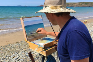 Oil Painting Holiday Charente Maritime, France with professional artist David Johnson (DJ).