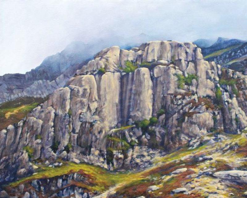 Dinas Cromlech, oil on canvas, 41 x 51 cm