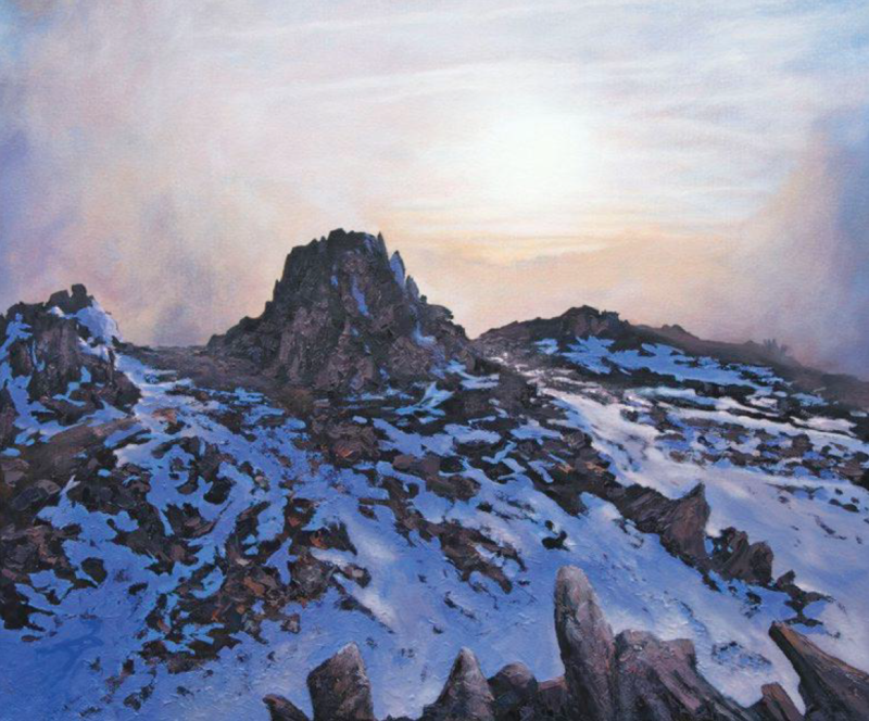 Nunataks on Glyder Fawr, oil on canvas, 51 x 61 cm