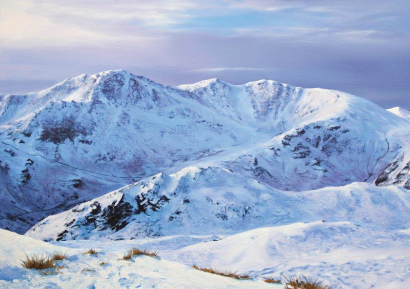 The Coniston Fells from Lingmoor Fell, oil on canvas, 70 x 100 cm